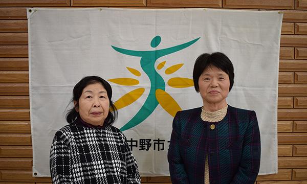 左 部長 石川喜久子 右 副部長 若林孝子