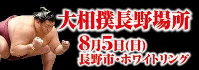 大相撲長野場所8月5日(日)長野市・ホワイトリング