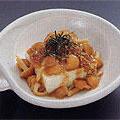 豆腐と生なめこのゴマ風味