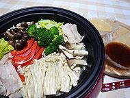 きのこ&豚肉の蒸しサラダ